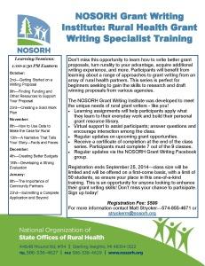 Grant Writing Institute 2014-15 - pg 1