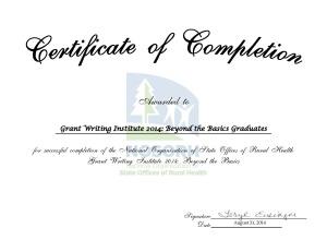 GWI Certificate