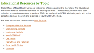 Educational Resources by Topic Screen Shot