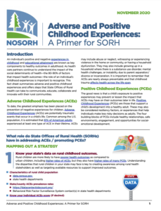 Adverse and Positive Childhood Experiences: A Primer for SORH