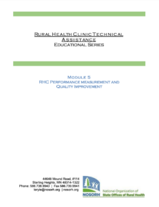 Module 5 - RHC Performance measurement and Quality Improvement