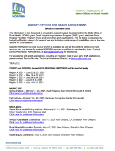 Budget Options for Grant Applications