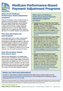 Medicare Performance-Based Payment Adjustment Programs