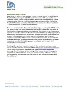 Background on Hospital Closures