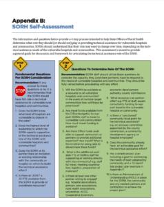 SORH Self Assessment