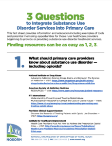 3 Questions to Integrate Substance Use Disorder Services into Primary Care