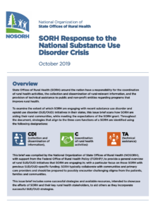 SORH Response to the National Substance Use Disorder Crisis